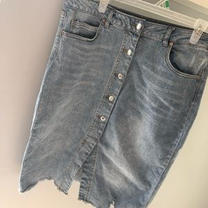 wild fable button jean skirt
